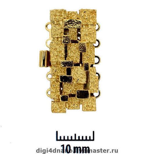 Для украшений ручной работы. Ярмарка Мастеров - ручная работа. Купить Замок для бус или браслета на 5 нитей, №26. Handmade.