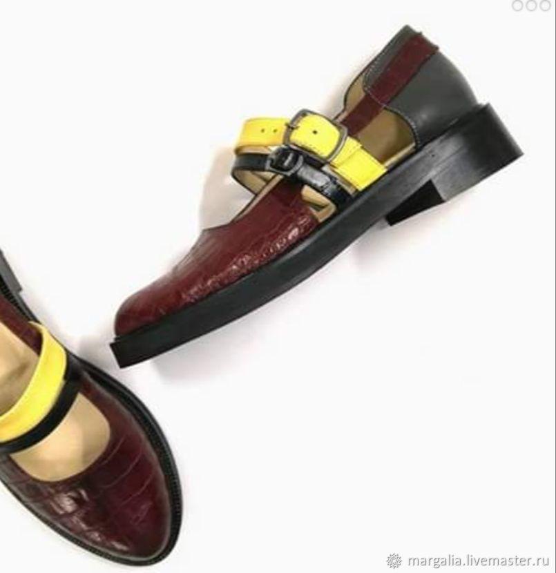 """Обувь ручной работы. Ярмарка Мастеров - ручная работа. Купить Лоферы """"margalia'. Handmade. Обувь ручной работы, модная обувь"""