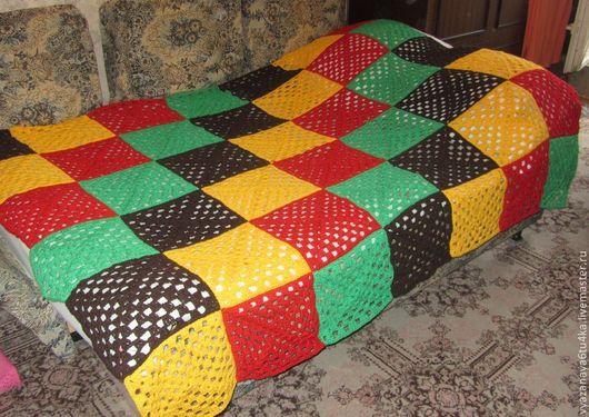 """Текстиль, ковры ручной работы. Ярмарка Мастеров - ручная работа. Купить вязанное покрывало """" А может Боб Марли?"""". Handmade."""