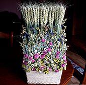 Композиции ручной работы. Ярмарка Мастеров - ручная работа Композиция-букет из сухоцветов Очень украшает столовую или кухню. Handmade.