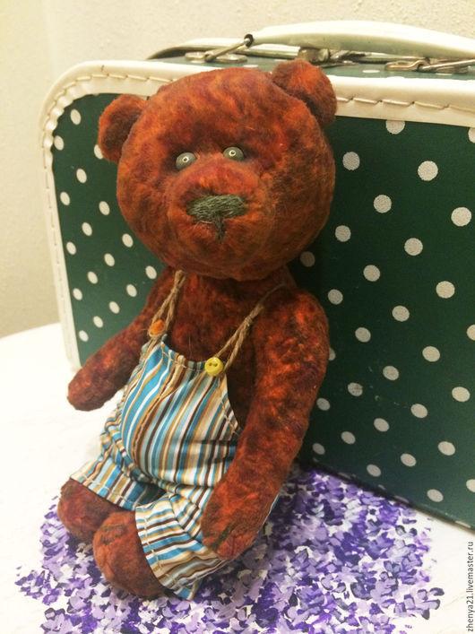 Мишки Тедди ручной работы. Ярмарка Мастеров - ручная работа. Купить Юзеппи медвежонок тедди. Handmade. Рыжий, авторский мишка