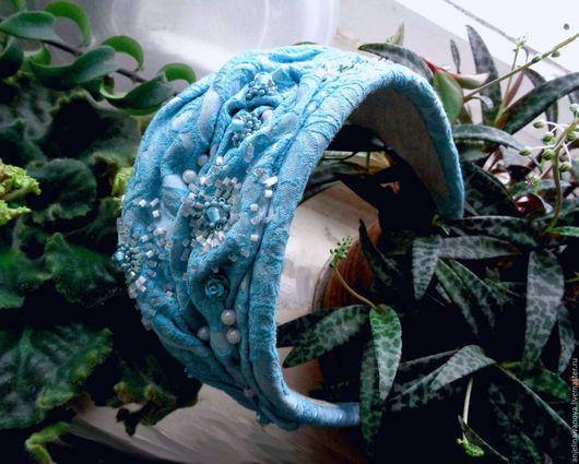"""Шляпы ручной работы. Ярмарка Мастеров - ручная работа. Купить """"Джулия"""";шляпка накладка обруч. Handmade. Шляпка цвета мяты, бирюзовый"""