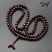 Фен-шуй и эзотерика handmade. Livemaster - original item Buddhist Mala Rosary made of garnet, 108 beads. Handmade.