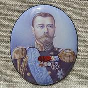 Картины и панно ручной работы. Ярмарка Мастеров - ручная работа Портрет Николай II эмаль. Handmade.