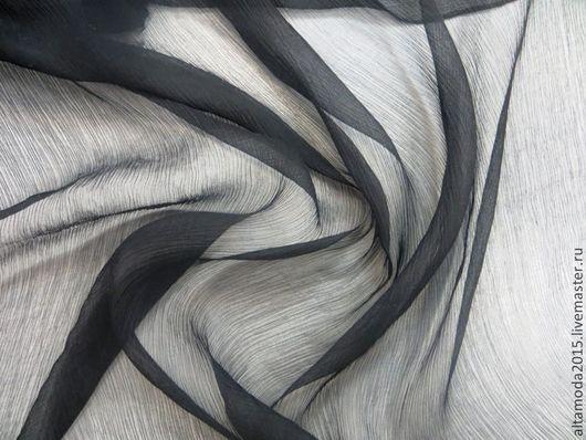 Шитье ручной работы. Ярмарка Мастеров - ручная работа. Купить Шифон крэш 6 цветов однотонный  шелк 100% ткань  пр-во Италия. Handmade.
