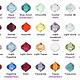 Цвет кристалла на выбор