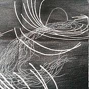 Материалы для творчества ручной работы. Ярмарка Мастеров - ручная работа Костюмная черная с серебром. Handmade.