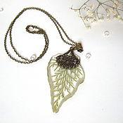 Украшения handmade. Livemaster - original item Pendant with Real Green Twig of Arborvitae Needles are Eco Jewelry Green Forest. Handmade.