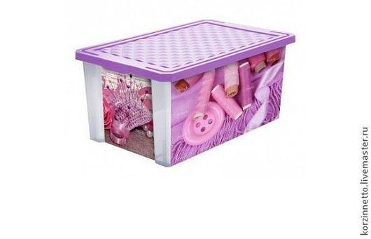 Ящик для хранения `X-BOX` Рукодельница 12 л PC2583-RUK