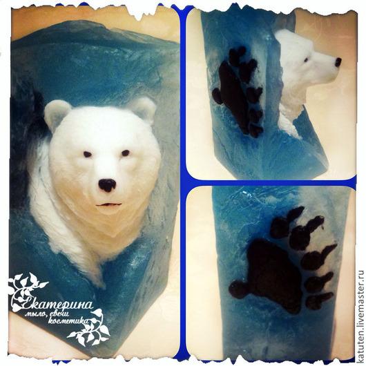 Мыло ручной работы. Ярмарка Мастеров - ручная работа. Купить Мыло Белый медведь в льдине. Handmade. Голубой, сувениры и подарки