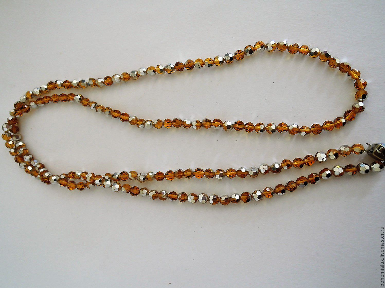 Necklace Czech glass beads jewelry 1950гг, Vintage necklace, Prague,  Фото №1