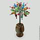 Дерево из камней-самоцветов `Праздник души`