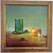 Картины и панно ручной работы. Ярмарка Мастеров - ручная работа Натюрморт с зеленым стаканом. Handmade.