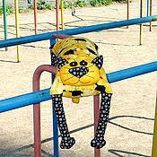 """Для дома и интерьера ручной работы. Ярмарка Мастеров - ручная работа Игрушка-подушка """"Радужный кот"""" вороны и вишенки. Handmade."""