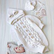 Одежда детская handmade. Livemaster - original item Australian Merino knitted jumpsuit for girls and boys. Handmade.