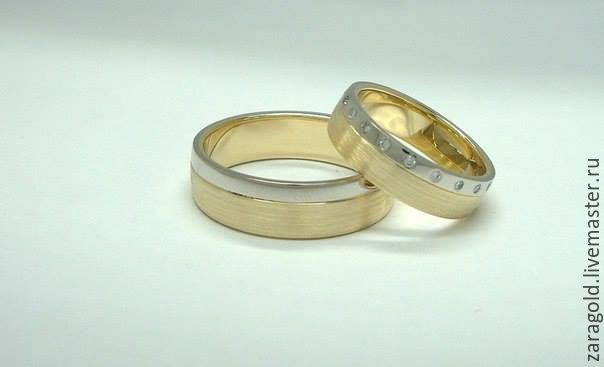 Кольцо обручальное желтое золото купить