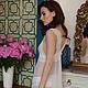Белье ручной работы. Полупрозрачная ночная сорочка с кружевом. F-11. Apilat wedding dresses and lingerie. Ярмарка Мастеров.