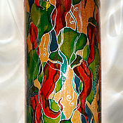 Посуда handmade. Livemaster - original item Bottle Peppers, stained glass painting on ceramics. Handmade.