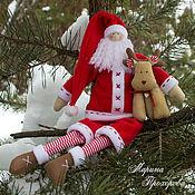 Куклы и игрушки handmade. Livemaster - original item Santa Claus with Deer. A GIFT FOR THE NEW YEAR AND CHRISTMAS!!!. Handmade.