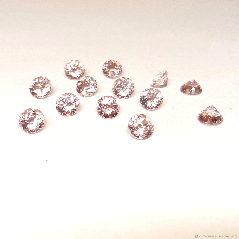 МОРГАНИТ (розовый берилл) Круг 6,0 мм, Минералы, Москва,  Фото №1