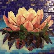 Картины и панно ручной работы. Ярмарка Мастеров - ручная работа Цветок лотоса, мозаика. Handmade.