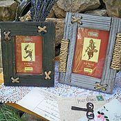 Винтаж ручной работы. Ярмарка Мастеров - ручная работа Рамки для фото деревянные. Handmade.