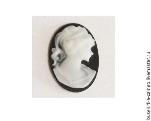 Для украшений ручной работы. Ярмарка Мастеров - ручная работа. Купить Камея Дама классическая, белая 13х18мм (пластик) 1шт.. Handmade.