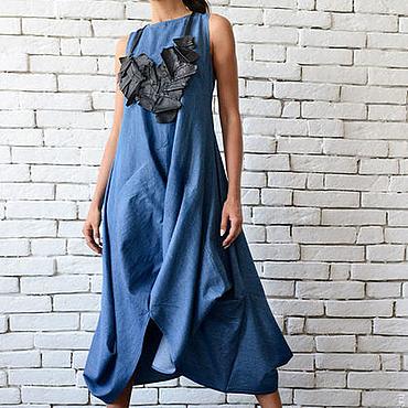 Одежда ручной работы. Ярмарка Мастеров - ручная работа Джинсовый сарафан, джинсовое платье. Handmade.