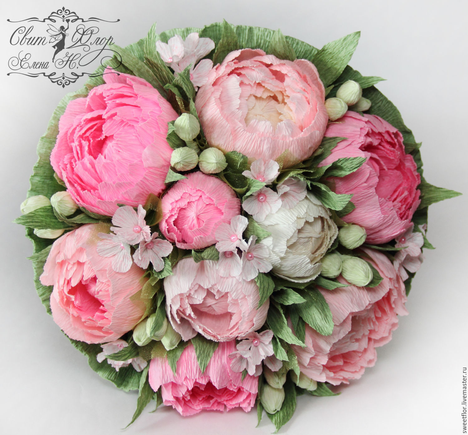 Peony bouquet from candy – shop online on Livemaster with shipping ...