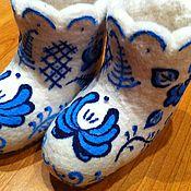 """Обувь ручной работы. Ярмарка Мастеров - ручная работа Валенки детские """"гжель"""". Handmade."""