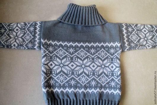 """Одежда для мальчиков, ручной работы. Ярмарка Мастеров - ручная работа. Купить Свитер """"Гаврош"""". Handmade. Серый, теплые вещи"""