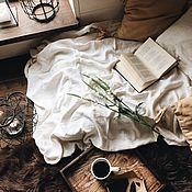 Для дома и интерьера handmade. Livemaster - original item Linen plaid. Bedspread. 100% linen. Softened.. Handmade.