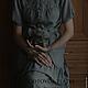 Платья ручной работы. Ярмарка Мастеров - ручная работа. Купить Осенний туман. Handmade. Серый, платье вечернее