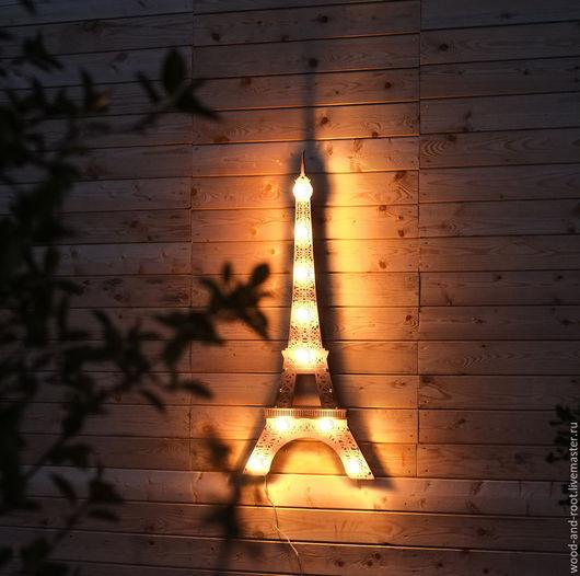 Освещение ручной работы. Ярмарка Мастеров - ручная работа. Купить Светильник Эйфелева башня Eiffel Tower. Handmade. Коричневый, романтика