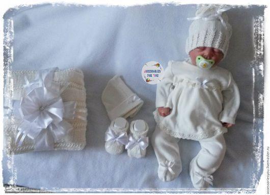 """Для новорожденных, ручной работы. Ярмарка Мастеров - ручная работа. Купить Большой ком-т""""Принцесска"""" на выписку,крещение и повс.носки.. Handmade."""