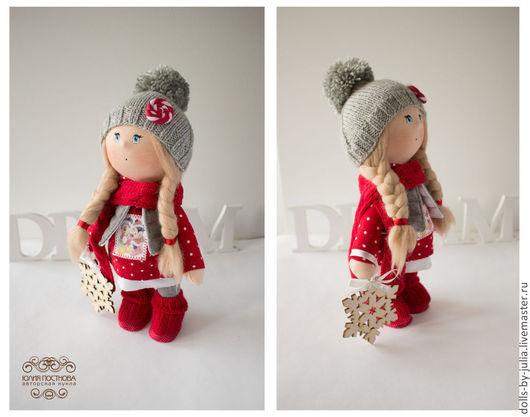 Коллекционные куклы ручной работы. Ярмарка Мастеров - ручная работа. Купить Christmas. Handmade. Серый, авторская кукла, подарок на новый год