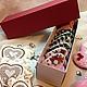 Имбирные пряничные сердечки лучше всего дарить набором. Набор 10 шт в подарочной коробке 1070 руб.
