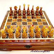 Шахматы янтарные