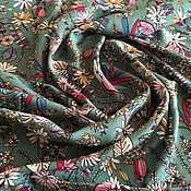 Материалы для творчества handmade. Livemaster - original item Italian viscose dress-brusochka Flowers. Handmade.
