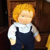 Куклы и игрушки ручной работы. Ярмарка Мастеров - ручная работа Вальдорфская кукла-мальчик 40-45 см. Handmade.