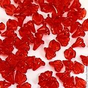 Материалы для творчества ручной работы. Ярмарка Мастеров - ручная работа Бусины акриловые Цветы каллы По 20 шт красные. Handmade.
