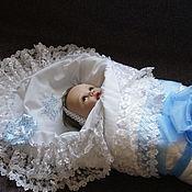 Комплекты одежды ручной работы. Ярмарка Мастеров - ручная работа Уголок на выписку для новорожденного. Handmade.