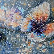 Картины и панно handmade. Livemaster - original item Butterfly painting colorful wall art canvas artwork with Spider. Handmade.