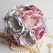 Свадебный салон handmade. Livemaster - original item Wedding Brooch bouquet pink and lavender. Handmade.