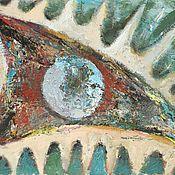 Картины и панно ручной работы. Ярмарка Мастеров - ручная работа Картина маслом Глаз дракона. Handmade.