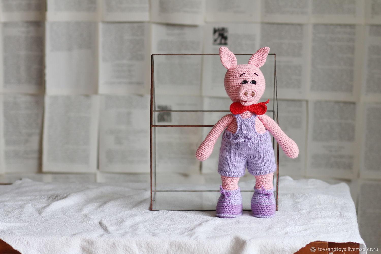 Animal Toys handmade. Livemaster - handmade. Buy Pig. Symbol 2019.Crochet, home decor, gift for girls