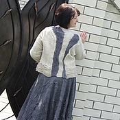 Одежда ручной работы. Ярмарка Мастеров - ручная работа Валяный костюм  жакет и юбка. Handmade.