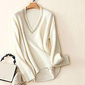 Одежда handmade. Livemaster - original item Pullover made of cashmere with hand finishing. Handmade.