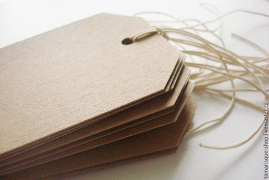 Упаковка ручной работы. Ярмарка Мастеров - ручная работа. Купить Бирки из крафт-бумаги 6,5х11,5 см срезанные углы. Handmade.