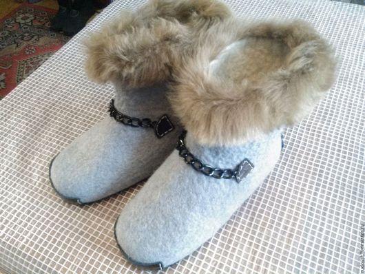 Обувь ручной работы. Ярмарка Мастеров - ручная работа. Купить Валяные мужские чуни.. Handmade. Комбинированный